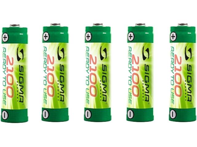 SIGMA SPORT Mignon NiMh-Batterij 2100mAh, 5 stuks
